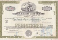 Central Illinois Light Company. Illinois. 9 1/8% bond. 1980's (olive)