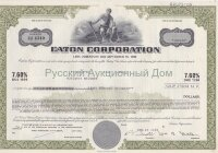 Eaton Corporation. Ohio. 7.60% debenture. 1980's. (olive)