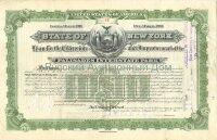 State of New York. Issue of March 1911. Loan for the Extension. 1000$ (green)