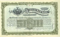 State of New York. Issue of September 1913. Loan for Highway Improvement. 5000$ (green)