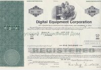Digital Equipment Corporation. 4 1/2% debenture. 5000$. 1970's