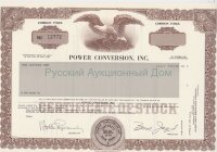 Power Conversation, Inc. New York. Stock certificate. Blank form. UNC