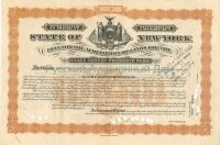 State of New York. Issue of March 1917. Loan for the Acquisition of lands. 10000$ (beige)