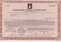 Bankers Trust Company. 7.65% capital note. 1970-1980's (brown). 10000$