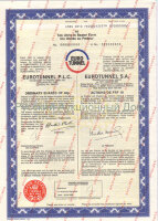 EUROTUNNEL P.L.C./S.A. Ordinary shares 40p/ Action de FRF 10. 10 units. SPECIMEN 1988