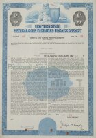 New York State Medical Care Facilities Finance Agency. Bond. 1970's (blue)