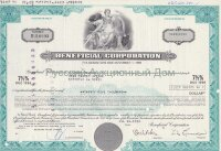 Beneficial Corporation, Delaware. 7 1/2% debenture. 1980's (turquoise)