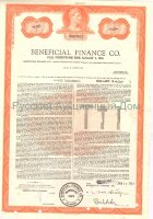 Beneficial Finance Co. Delaware. 6 3/4% debenture. 1980's (red)