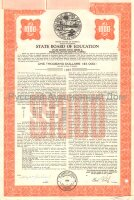 State Board of Education. Florida. Bond. 1000$. 1960's (red)