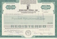 International Controls Corp. Florida. Debenture. 1980's