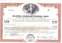 ZURN Industries, Inc. Pennsylvania. 5 3/4% debenture. 1980's