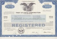 First Atlanta Corporation. Georgia. 11 3/4% note. 1980's