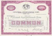 Canaveral International Corp. Delaware. Shares. 1960's (purple)