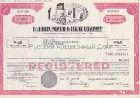 Florida Power & Light Company (FPL). Florida. 9 3/8% first mortgage bond. 1980's (pink)
