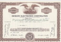 Dickson Electronics Corporation, Delaware. Common stock. 1970's