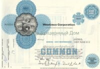 Westvaco Corporation. Certificate for 100 shares, 1973