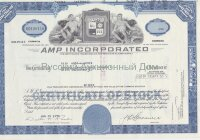 AMP Incorporated, New Jersey. Less than 100 shares. 1970's (blue)