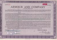 Armour And Company (An Illinois Corporation). Shares. 1950-1960's