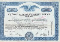 Northwest Gas & Oil Exploration Company. Delaware. Stock certificate. 1960's