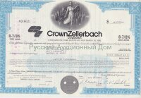 Crown Zellerbach Corporation. Nevada. 8 7/8% debenture. 1980's (blue)