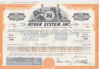 Ryder System, Inc. Florida. 8 1/8% debenture. 1980's. (orange)