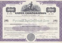 Eaton Corporation. Ohio. 7.60% debenture. 1980's. 10000$