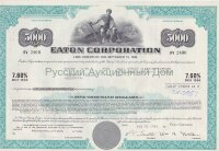 Eaton Corporation. Ohio. 7.60% debenture. 1980's. 5000$