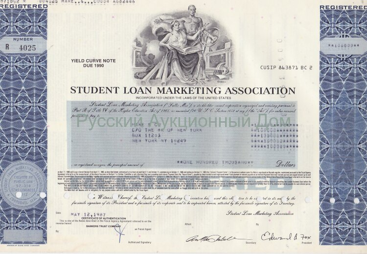Student Loan Marketing Association (Salli Mae). USA. Note. 1980