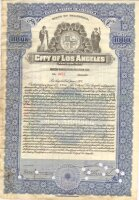 City of Los Angeles. Califirnia. Water works bond 1924/ 1000$