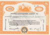 Progress Manufacturing Company, Inc. Pennsylvania. Less than 100 shares. 1960's
