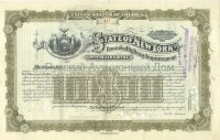 State of New York. Issue of March 1911. Loan for Highway Improvement. 10000$ (olive)