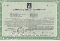 Bankers Trust Company. 7.65% capital note. 1980's (green)