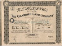 The Gharbieh Land Company. Une part. Le Caire, 1944
