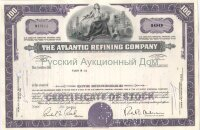 The Atlantic Refining Company. Pennsylvania. 100 shares. 1960's (violet)