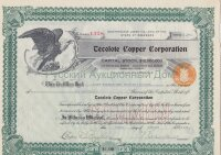 Tecolote Copper Corporation. Delaware. Common shares. 1921 (green)