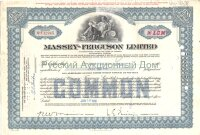 Massey-Ferguson Limited. Canada. Less than 100 shares. 1960