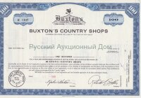 Buxton's Country Shops, New Jersey. 100 shares. 1960's (blue)