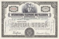 International Telephone and Telegraph Corporation. Maryland. Capital stock, Less than 100 shares. 1950's (grey, woman)