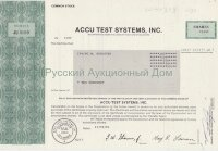 ACCU TEST SYSTEMS, INC. Delaware. 1980's. Shares.