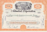 Admiral Corporation. Less than 100 shares. 1960's. Delaware (orange)