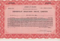 Rhodesian Selection Trust, Limited. 100 american shares. 1946