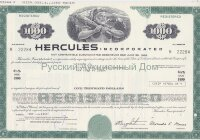 Hercules Incorporated. Delaware. 6 1/2% debenture. 1980's (green) 1000$