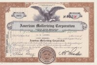 American Mollerizing Corporation. Nevada. Shares. 1950's