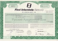 First Interstate Bancorp. Delaware.  Notes. 1980-90's. (blue/green/olive/pink/brown)